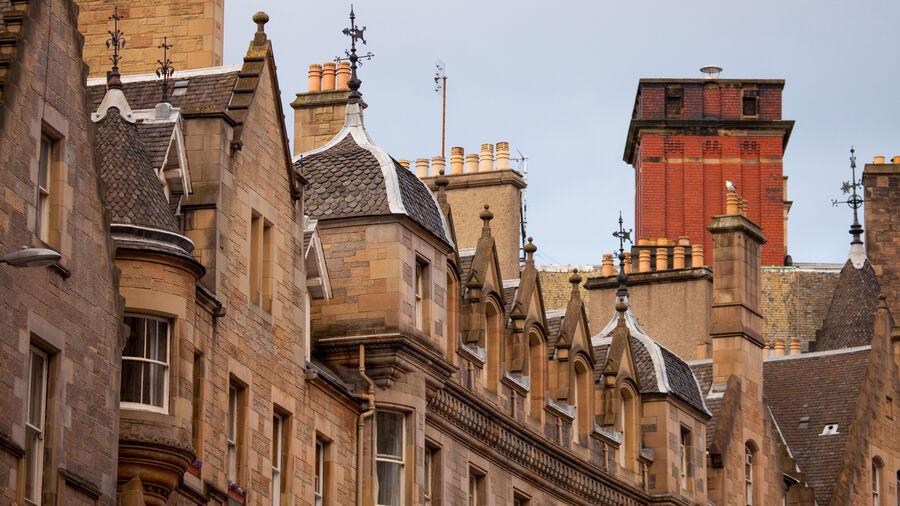 Cockburn Street gables, Edinburgh