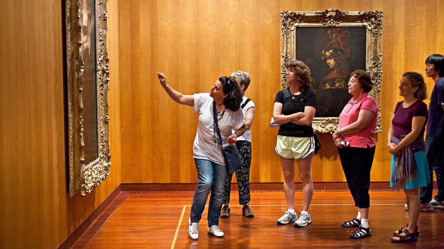 Guide at Gulbenkian Museum, Lisbon