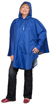 Women's Poncho in Blue