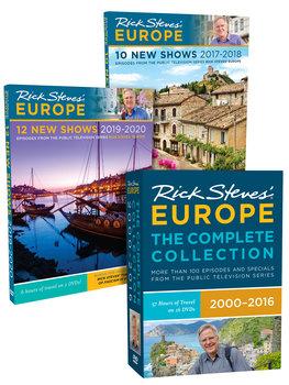 Rick Steves' Europe Complete Collection + Season 9 & Season 10 DVD Set.