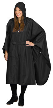 Hide-Away Poncho: Black